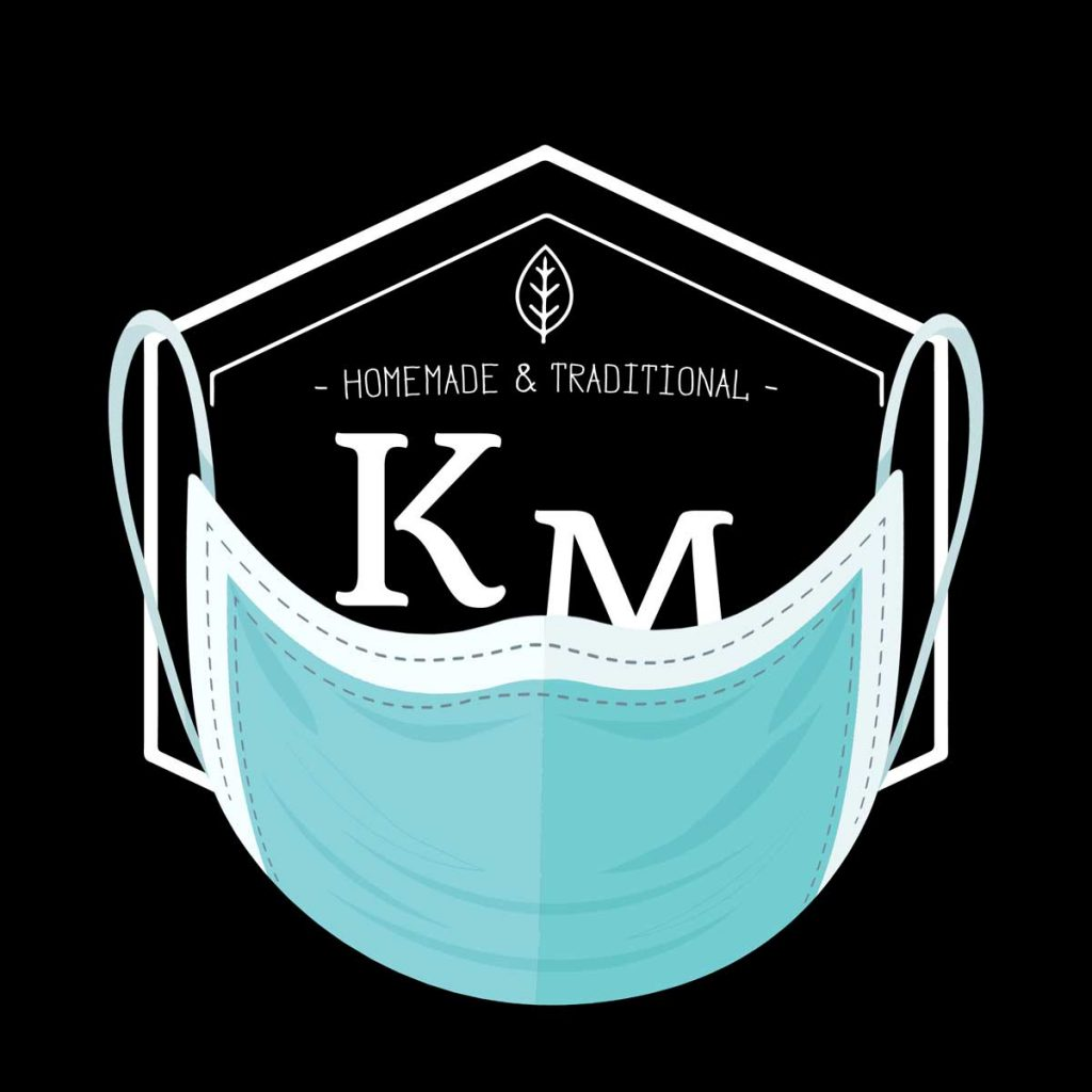 logo km burger masque